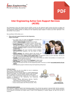 Inter Engineering Support Services Description