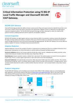 Clearswift SECURE ICAP Gateway Integration with F5 BIG-LTM